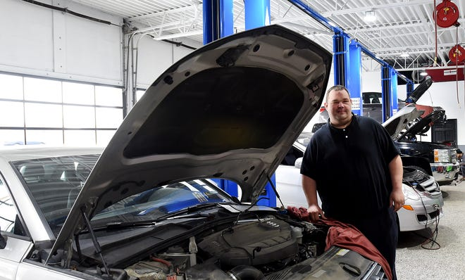 Matt Dalton, service manager Integrity Auto Service in Heath, tries to find cost affective solutions for customers with car troubles and treat customers as he would want his family and friends treated.