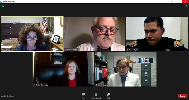 Mayor Sherry Capello hosted a Zoom public dialogue on policing in Lebanon on Monday evening.