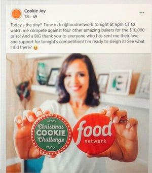 San Angelo baker Taishi Ligon of Cookie Joy was featured on Food Network's Christmas Cookie Challenge.