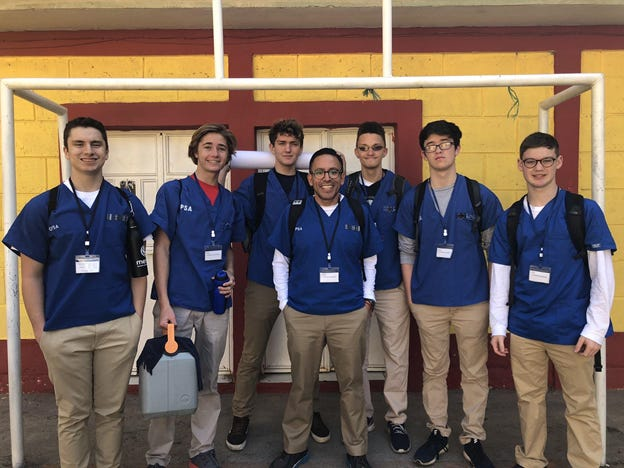 As part of Fordham Prep's Global Education Program, students participate in a medical mission in Guatemala.