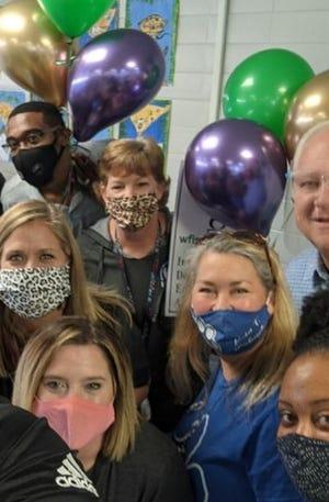 Booker T. Washington Elementary School teachers are surprised with IDEA grants Nov. 20, 2020.
