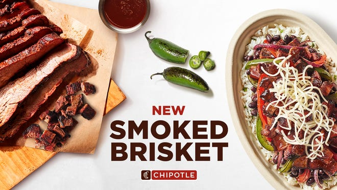 Chipotle tests Smoked Brisket protein option.