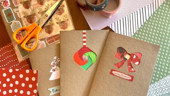 I tried paper crafting my own Christmas cards—here are my tips