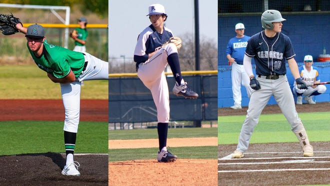 West Texas A&M University added Texas high school baseball standouts, from left, Reese Chapman, JJ Luna and Carson Shepherd, to the roster on Tuesday.