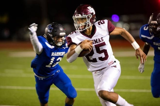 Hallettsville running back Jonathon Brooks is having a blistering postseason for the Brahmas. The three-star set a school record two Fridays ago by rushing for 501 yards and nine touchdowns in a 61-48 victory over Lorena.