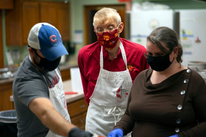 Nearly 800 meals were served at First United Methodist Church's 23rd annual freeThanksgivingdinner held on Nov. 26, 2020at the church, 703 Arden St. inBoone.