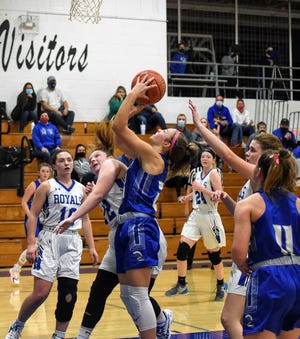 Freshman Erica Houge had 19 points for No. 11 Collins-Maxwell in its 59-31 victory over Colo-NESCO to open Iowa Star Conference South Division play Tuesday in Colo.