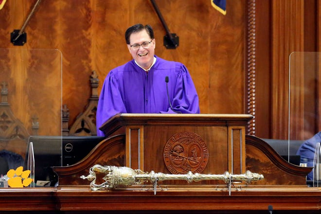 South Carolina House Speaker Jay Lucas presides over the House's organization session Tuesday in Columbia. Lucas was first elected speaker for the 2015 session.