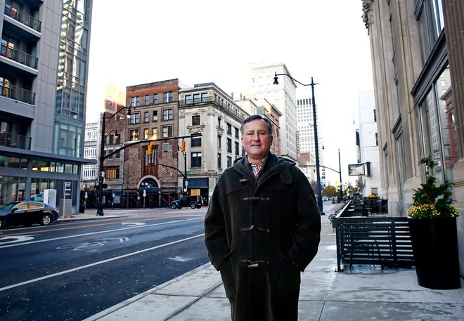 Developer Jeff Edwards has developed two of four corners of Gay and North High streets Downtown and is about to start on a third, which contains the former Madison's Department Store and White Haines building.