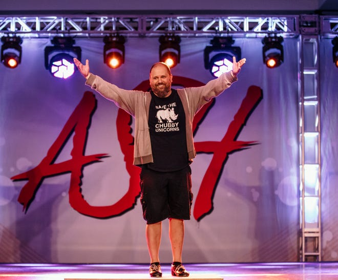 """Gregg Russell representing ASH, or Artists Simply Human, a dance education company where he was a faculty member since 2014. """"He was well known for his terrible dad jokes and terrible dad joke T-shirts, and took great pride in always wearing one of those shirts and having a new joke on hand for anyone at any time,"""" said Tyler Adcock, office manager for ASH. """"Gregg could be quiet, but not because he was shy. He was just a great listener and a really caring and compassionate guy. He always managed to keep us grounded when an event was incredibly chaotic."""""""