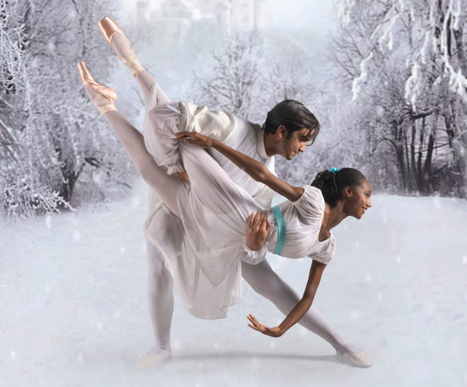 "Tanner Noronha-Weeks is the Nutcracker/Prince and Joy Perry is Clara in the Volusia Civic Ballet's production of ""The Nutcracker."" The iconic ballet will come to the Ocean Center in Daytona Beach on Dec. 5 and 6."