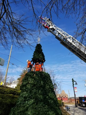 The Somersworth Christmas Tree will be center stage when it is virtually lit this year