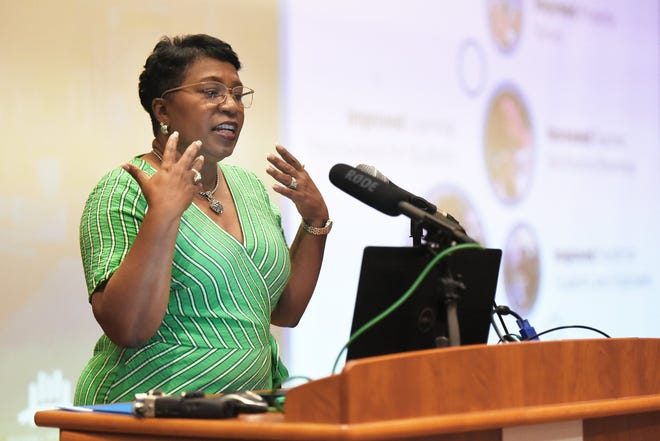 A file photo of Duval Schools Superintendent Diana Greene at FSCJ on July 9, 2019.