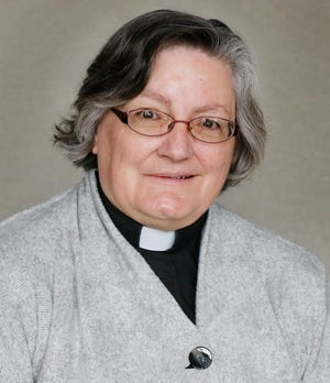 The Rev. Karen E. Tews, pastor of Prince of Peace Lutheran Church