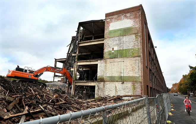 """Philip Shwachman, principal of Hopedale Properties, LLC, which owns the former Draper Mill property, said the decision to tear down most of the complex was due to the feeling that """"the liability was greater than any potential benefits."""""""