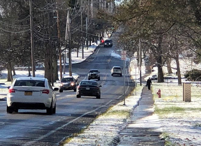 The first real snow of the season Tuesday into Wednesday can serve as a reminder for motorists to take heed on the roads and for Canandaigua property owners to clear sidewalks of snow and ice so walkers can move about safely.