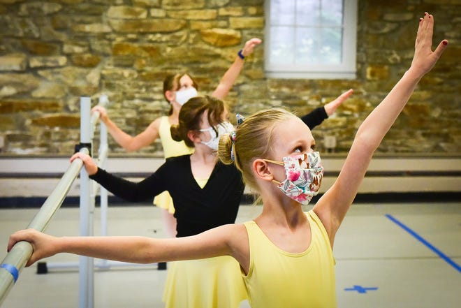 Brynn Welch and others use a barre during ballet class at the Kirkland Art Center, a past recipient of grants through CNY Arts, on Saturday, Oct. 3, 2020 in Clinton.