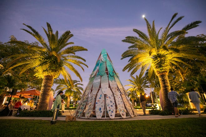 The installation for the Royal Poinciana Plaza tree last year was by fine art photographer and author, Gray Malin.