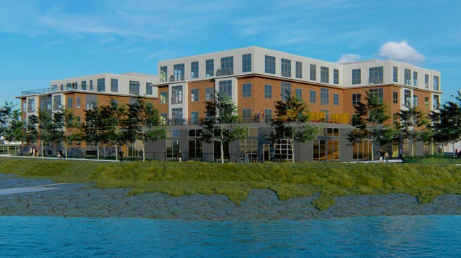 The proposed development at 105 Bartlett Street on North Mill Pond.