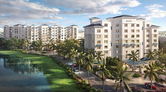 Palm Beach Riverstone, a 374-apartment project at I-95 and 45th Street, is scheduled to open by the second quarter of 2022.