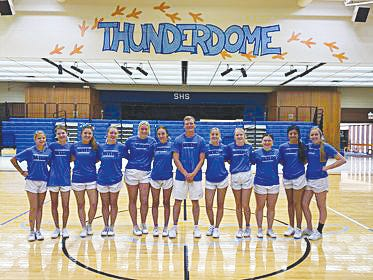 Members of the Skyline High School cheer squad that recently won a Game Day Cheer competition award include seniors- Kyrian Keeling and Cassidy Spease; juniors- Sophie Bricker, Averey Haskett, Brock McKennon, Alea Nelson and Kylie Schere; sophomores- Monika Castillo, Ashton Gatton, Bailey Hittle and Randi Hoffman; and freshmen- Kealy Hammond.