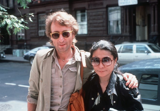 John Lennon and his wife, Yoko Ono, arrive at The Hit Factory, a recording studio in New York in this Aug. 22, 1980 file photo. Lennon was shot fatally on Dec. 8, 1980 outside his apartment building in New York.