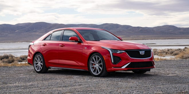 The 2021 Cadillac CT4 Premium Luxury comes with a turbocharged 2.7-liter four-cylinder engine that delivers 325 horsepower and 380 pound-feet of torque.