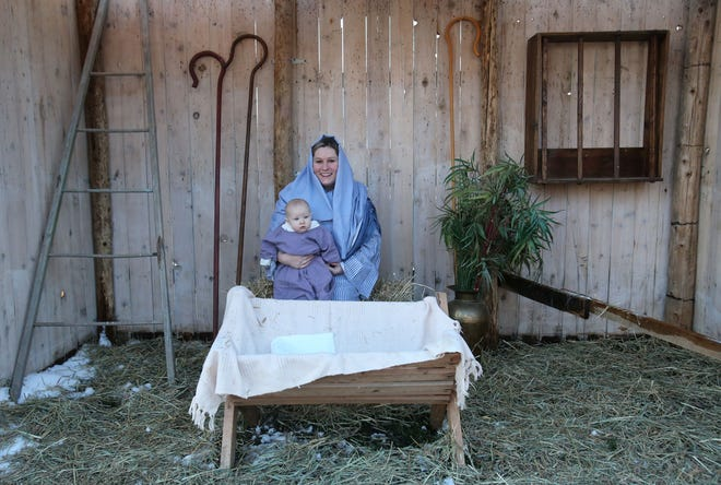 Olivia Carpenter portraying Mary and her daughter, Natalie Carpenter, as the baby Jesus will participate in Calvary Chapel's Night in Bethlehem drive-through event slated for Dec. 4, 5 and 6.