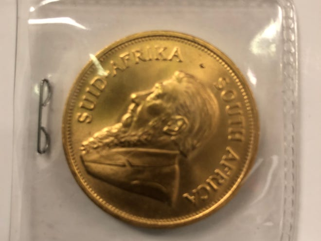 A 1-ounce gold South African Krugerrand coin worth $1,790 was donated to the Salvation Army at their kettle located outside of Gray's Foods in Rockford.