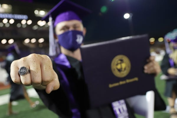 Tarleton State University will celebrate fall 2020 graduates with in-person commencement ceremonies Dec. 11-12 at Memorial Stadium on the Stephenville campus, provided current public health guidelines remain unchanged.