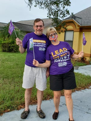 Rick and Randi Primrose participated in the Nov. 21 Walk to End Alzheimer's in their neighborhood.