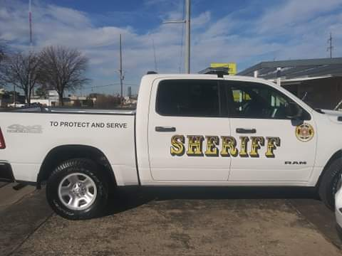 One of the 11 new Dodge Durangos marked with a Pottawatomie County decal.