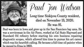 Obituary: Paul Jon Watson