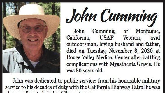 Obituary: John Cumming
