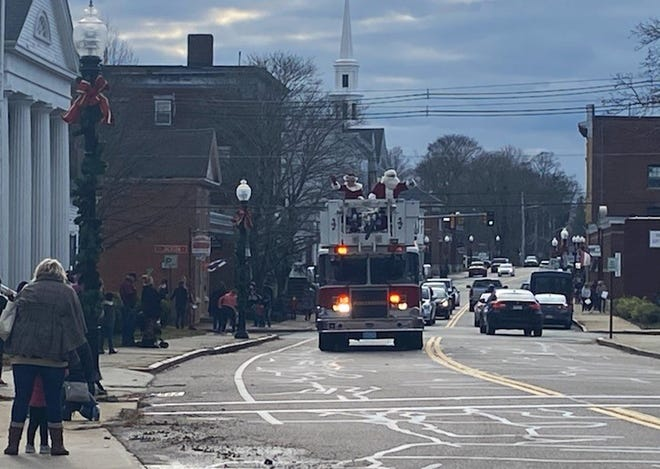The Middleborough Fire Dept. took Santa Claus and Mrs. Claus for a ride around downtown Middleborough on what would have been parade day, Saturday, Nov. 29. This year's Middleborough Christmas Parade was cancelled due to the COVID-19 pandemic.