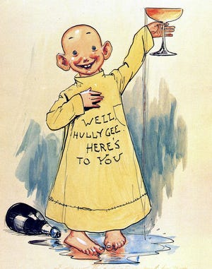 The Yellow Kid was the first super-star of comic strips, way back in 1895.
