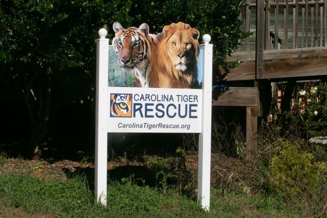 Welcome to Carolina Tiger Rescue. [Bill Hand / Sun Journal Staff]