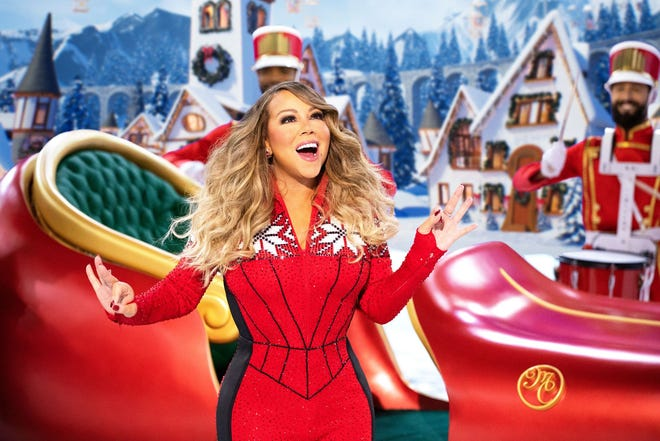 "Mariah Carey performs during her holiday special ""Mariah Carey's Magical Christmas Special."""
