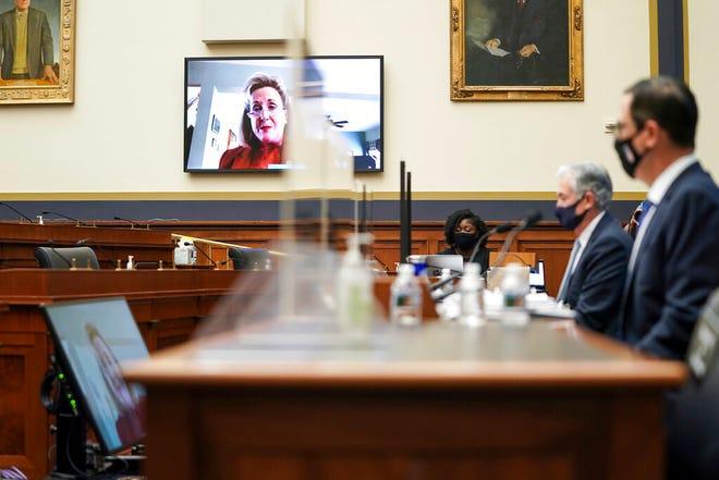 Rep. Ann Wagner, R-Mo., Berbicara melalui telekonferensi.