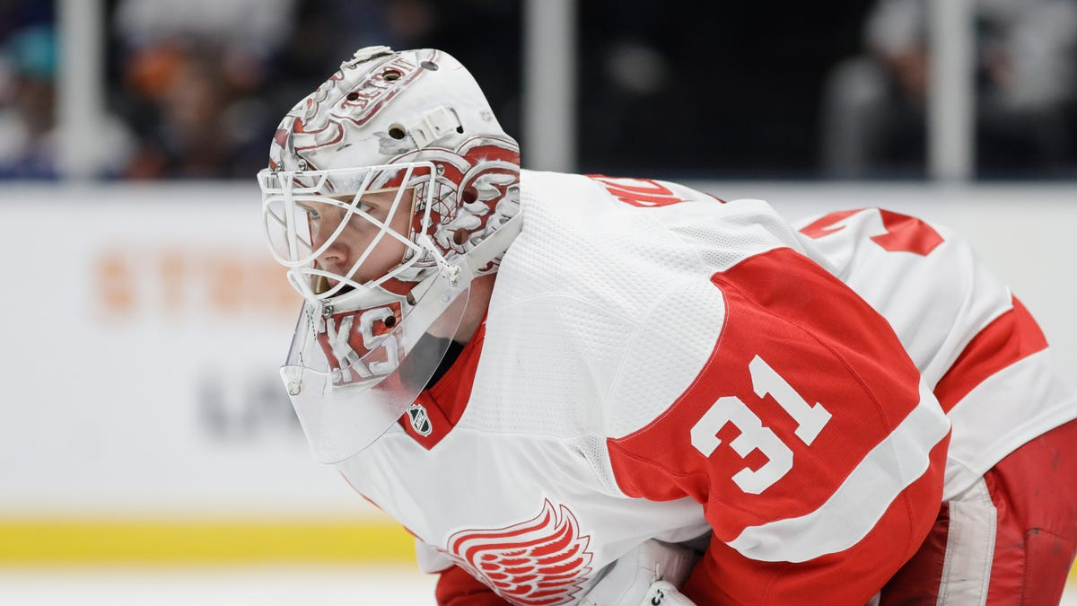 Red Wings loan minor-league goalie Calvin Pickard to...