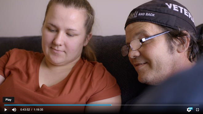 """Jenna Ploof and her father, Bill, are featured in """"Sky Blossom: Diaries of the Next Greatest Generation,"""" a new documentary about young people who care for family members."""