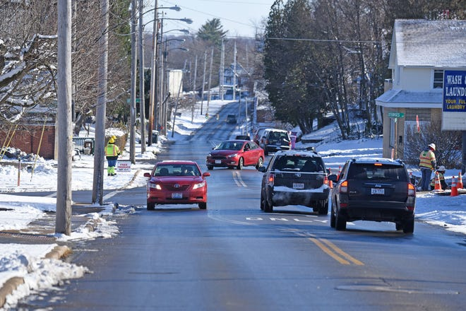 Traffic moves on Glessner Avenue east of OhioHealth Hospital on Wednesday.