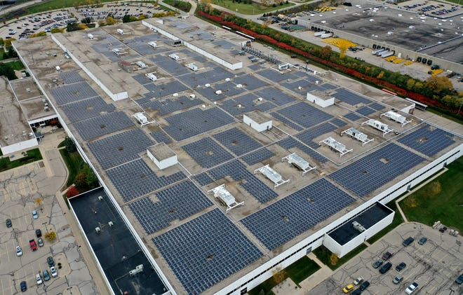 We Energies' solar project at Harley-Davidson's Pilgrim Road Powertrain Operations plant in Menomonee Falls, which includes 8,400 solar panels, is part of WEC Energy Group's move to renewable energy.