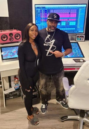 Montgomery rap artist Jai Jia with producer Yung Billionaire.
