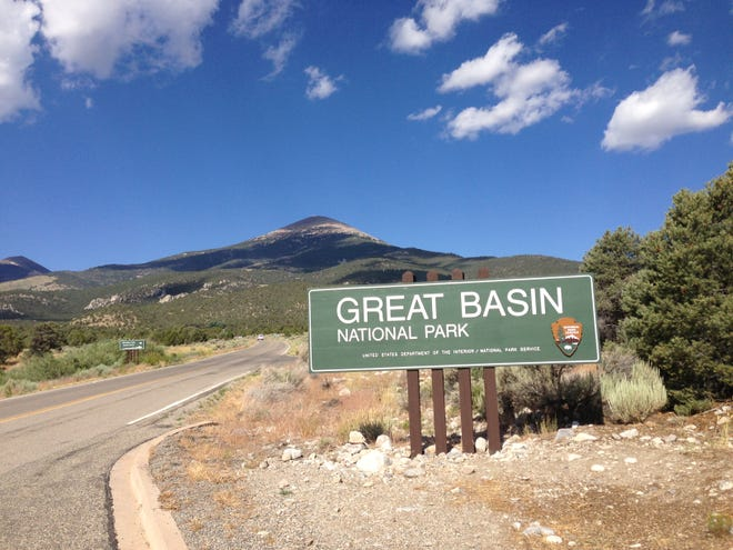 Entrance to Great Basin National Park on Nevada State Route 488, near the Lehman Caves Visitor Center. Taken July 14, 2013.