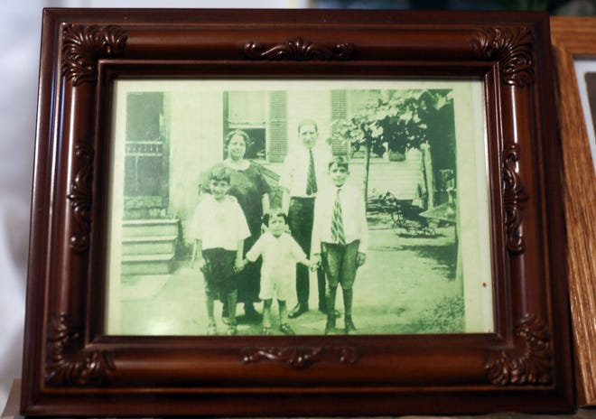 "A family photo of Armando ""Chick"" Galella, center, with his brothers and parents."