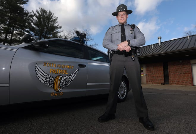 Zanesville native Scott Leach was voted as the Trooper of the Year for the Ohio State Patrol. He graduated from the patrol last spring at age 30.