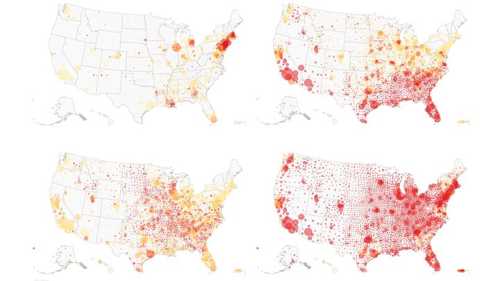 Hotspots shift across America