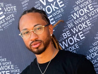 Spectacular Smith of Pretty Ricky poses at the Gen-Z Drive Up Voter Registration Event on Sept. 19, 2020, in Compton, Calif.