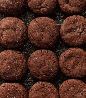 """These chocolate snickerdoodles are from """"The Chocolate Addict's Baking Book"""" by Sabine Venier."""